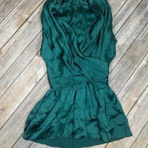 Banana Republic Emerald Green Silk Blouse